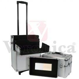Aluminiumpilotenkoffer/pilottrolley3in1ZILVER