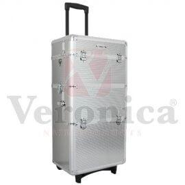 Aluminiumcosmeticatrolley3in1ZILVER