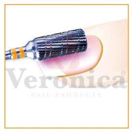 ToepassingPROMEDnagelfreeshardmetalenbit,barrelcombi-betanding,grof/fijn(geel)