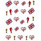ENGLAND VOETBAL water decals nagelstickers