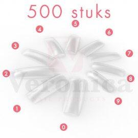 CLEARnageltips,breedopzetstuk,500stuks