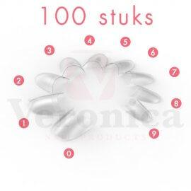'Rounded'CLEARmanicuretipskortopzetstuk,100stuks