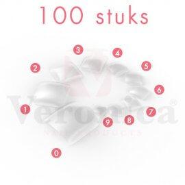 TeennagelsTRANSPARANT,100stuks