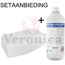 Desinfectiebox/instrumentenbak+Alcohol80%(1000ml)