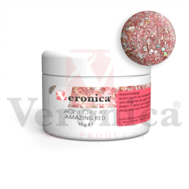 Chunkyglittermixacrylpoeder10gram:AMAZINGRED