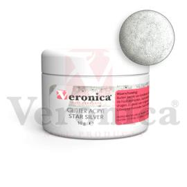 Glitteracrylpoeder10gram,STARSILVER