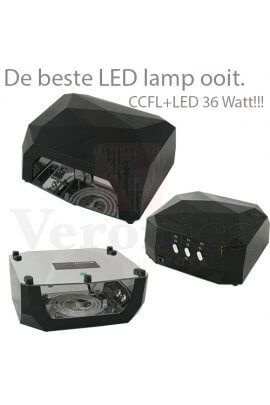 UVnagelledlamp'Diamond'ZWART,36watt