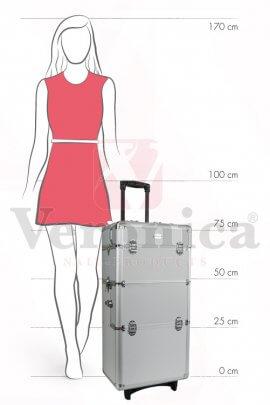 Proportieafbeeldingaluminiumpilotenkoffer/pilottrolley3in1ZILVER