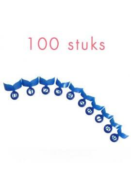 Quicknageltips,shortBLAUW,100stuks