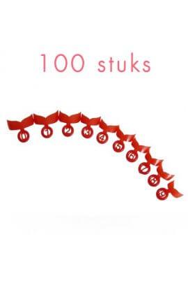 Quicknageltips,shortROOD,100stuks