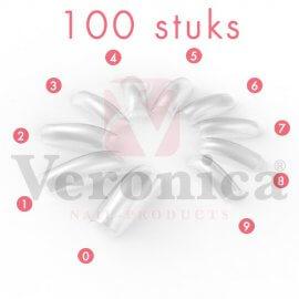 CLEARnageltips,kortopzetstuk,100stuks