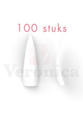 Stilettonageltips,WITbreedopzetstuk,100stuks
