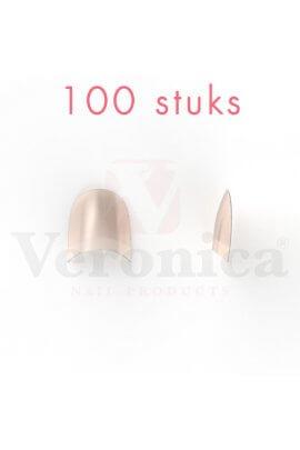 'Rounded'NATURALnageltipskortopzetstuk,100stuks
