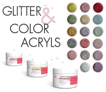 Glitter en color acryl