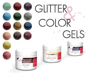 Glitter color gels